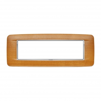дървена седеммодулна рамка, american cherrywood, vimar, eikon chrome, 20687.C36