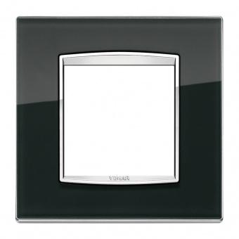 стъклена рамка, black ice, vimar, eikon chrome, 20642.C71