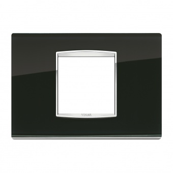 стъклена рамка, black ice, vimar, eikon chrome, 20652.C71