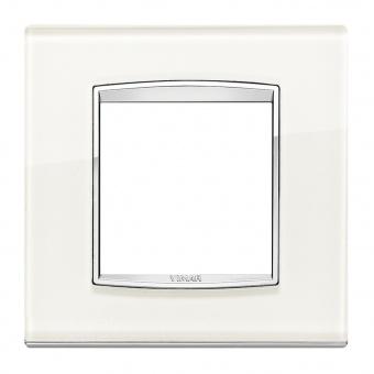 стъклена рамка, white ice, vimar, eikon chrome, 20642.C72