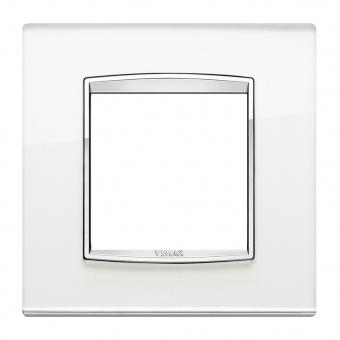 стъклена рамка, silver mirror, vimar, eikon chrome, 20642.C81