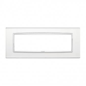 стъклена седеммодулна рамка, silver mirror, vimar, eikon chrome, 20657.C81