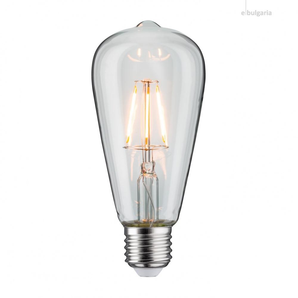 led лампа 4w, e27, топла светлина, 2700k, 360lm, 300°, filament st64, L020207237
