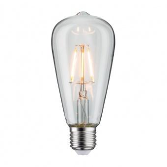 led лампа 4w, e27, топла светлина, 2700k, 360lm, 300°, filament st64