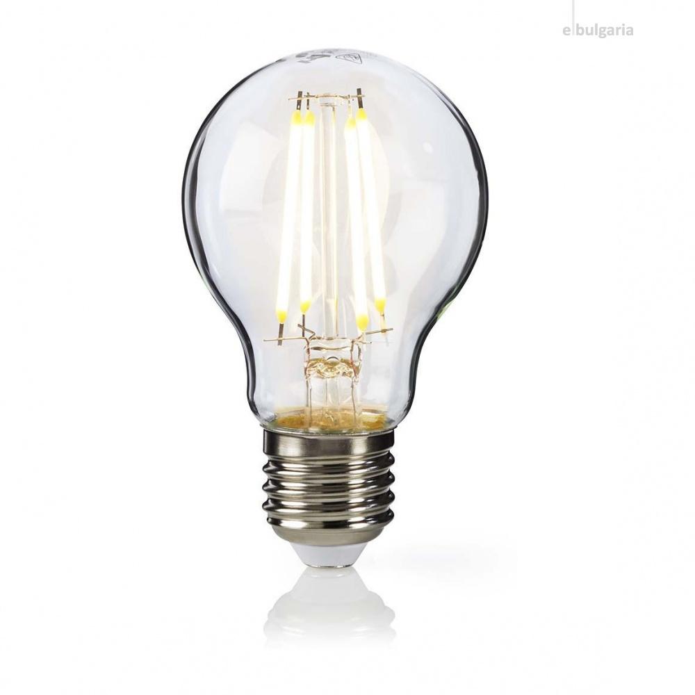 led лампа 4w, e27, топла светлина, 2700k, 360lm, 300°, filament a60, L020207236