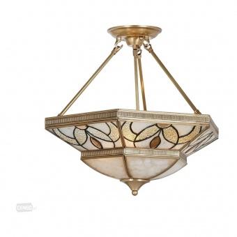 стъклен полилей, brass, prezent, ossman, 3x60w, 141