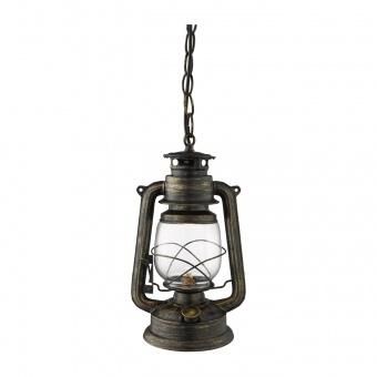 стъклен пендел, black gold, searchlight, hurricane, 1x70w, 3841-1bg