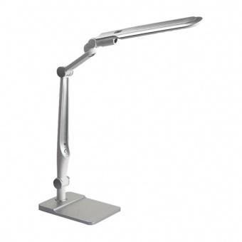 pvc работна лампа, silver/white, prezent, mentor, led 10w, 6300k, 470lm, 31208