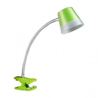 метална работна лампа, chrome/green, prezent, vigo, led 4w, 4000k, 300lm, 26052