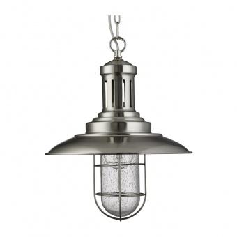 метален пендел, satin silver, searchlight, fisherman, 1x10w, 5401ss