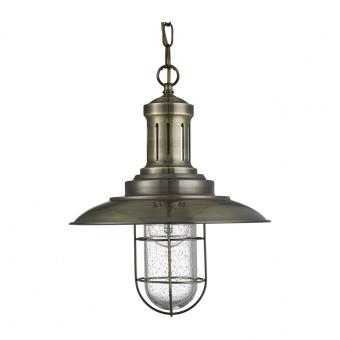 метален пендел, antique brass, searchlight, fisherman, 1x10w, 5401ab
