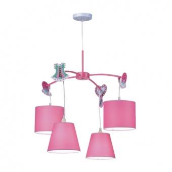 метален полилей, pink, prezent, carousel, 4x40w, 28027