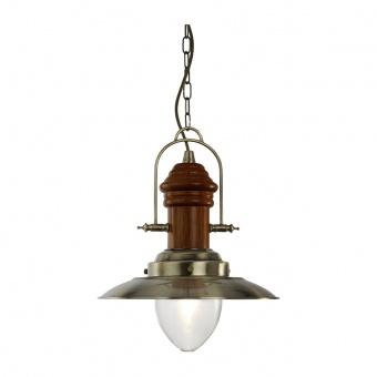 метален пендел, antique brass, searchlight, hurricane, 1x10w, 3301ab