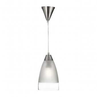 стъклен пендел, satin silver, searchlight, pendants, 1x10w, 7702
