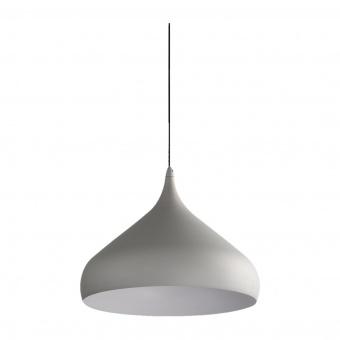 метален пендел, matt grey/aluminium, luxera, mokka, 1x40w, 18082