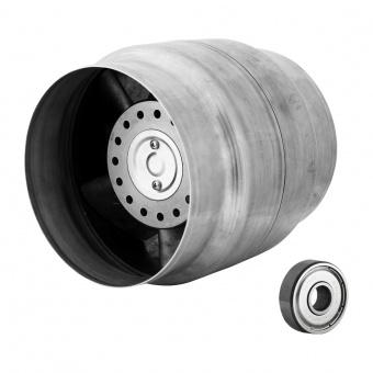 канален вентилатор, сив, високотемпературен, mmotors, 135/120, 205m/h3, 42w, метален корпус, mm bok, 2433
