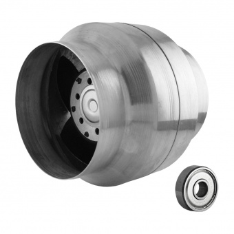 канален вентилатор, сив, с термо датчик, mmotors, 150/100, 240m/h3, 46w, метален корпус, mm bok, 2822