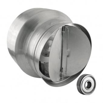 канален вентилатор, сив, с клапа, високотемпературен, mmotors, 150/100, 240m/h3, 46w, метален корпус, mm bok, 2846
