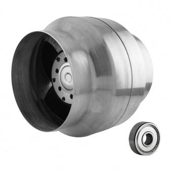 канален вентилатор, сив, с термо датчик, mmotors, 150/110, 240m/h3, 46w, метален корпус, mm bok, 2884