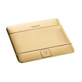 подова кутия 4 модула, драскано злато, legrand, 54016