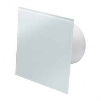 вентилатор за баня, квадрат с клапа, бял мат, mmotors, ф100/169, 169m/h3, 18w, mm-p, 06 стъкло права, 4895