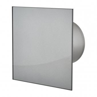 вентилатор за баня, квадрат с клапа, графит, mmotors, ф100/169, 169m/h3, 18w, mm-p, 06 стъкло права, 4758