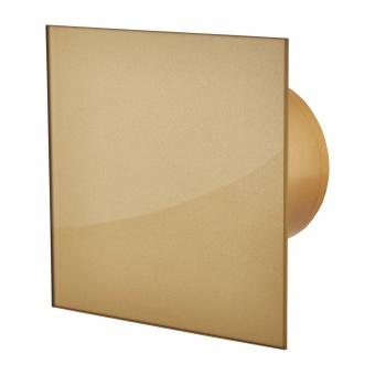 вентилатор за баня, квадрат с клапа, злато, mmotors, ф100/169, 169m/h3, 18w, mm-p, 06 стъкло права, 4765