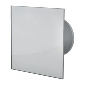 вентилатор за баня, квадрат с клапа, инокс, mmotors, ф100/169, 169m/h3, 18w, mm-p, 06 стъкло права, 4772