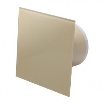 вентилатор за баня, квадрат с клапа, крем, mmotors, ф100/169, 169m/h3, 18w, mm-p, 06 стъкло права, 4789