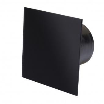 вентилатор за баня, квадрат с клапа, черен мат, mmotors, ф100/169, 169m/h3, 18w, mm-p, 06 стъкло права, 4857