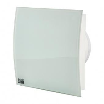 вентилатор за баня, квадрат с клапа, бял гланц, mmotors, ф100/169, 169m/h3, 18w, mm-p, 06 стъкло овал, 4864