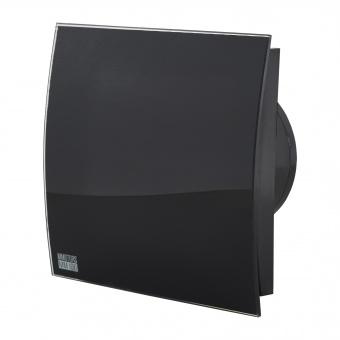вентилатор за баня, квадрат с клапа, черен гланц, mmotors, ф100/169, 169m/h3, 18w, mm-p, 06 стъкло овал, 4871