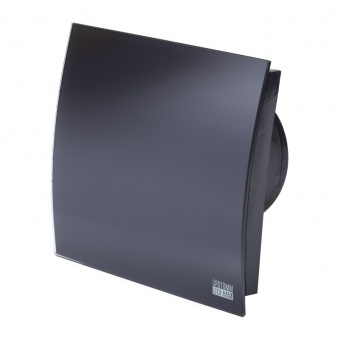 вентилатор за баня, квадрат с клапа, черен мат, mmotors, ф100/169, 169m/h3, 18w, mm-p, 06 стъкло овал, 4888