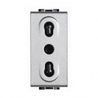контакт италиански стандарт, 10/16a,tech, bticino, livinglight, nt4180