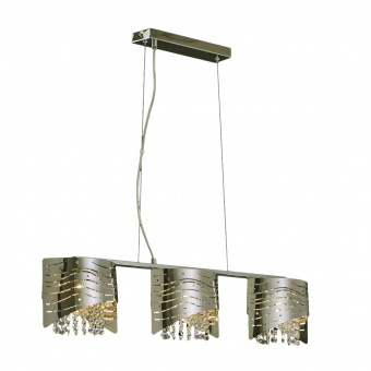 метален полилей, mirow stainless steel, luxera, orinoco, 3x33w, 46101