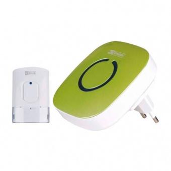 сигнален звънец, безжичен 52 мелодии зелен, emos, 3405, p5718g