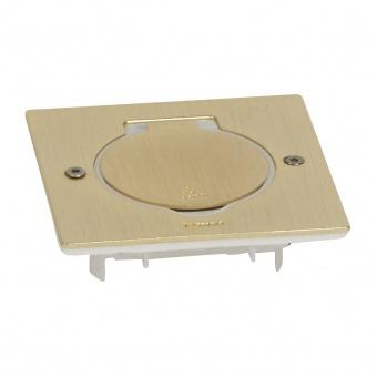 подова кутия, хоризонтално захващане на механизмите, единична квадратна, бронзе, ip44/ik8, legrand, 89710