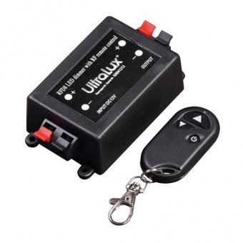 димер, за led осветление с rf управление, 12-24v dc, 96w, 8a, ultralux, rfd8