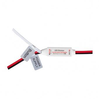 мини димер за едноцветна led лента, 5-24v dc, 96w, 8a, ultralux, scdm