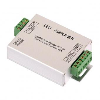 усилвател за rgb светодиодна лента,  12-24v dc, 3x4 a, ultralux, rgbamp12a