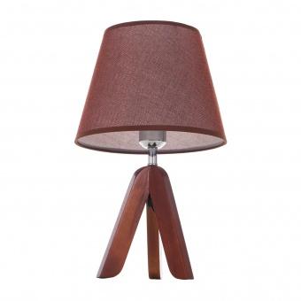 текстилна настолна лампа, кафяв, elbulgaria, 1x40w, 1502/cf