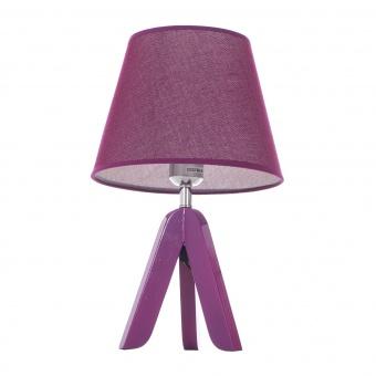 текстилна настолна лампа, лилав, elbulgaria, 1x40w, 1502/pp