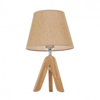 текстилна настолна лампа, крем, elbulgaria, 1x40w, 1502/w