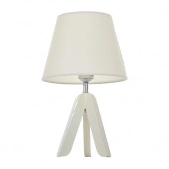 текстилна настолна лампа, бял, elbulgaria, 1x40w, 1502/wh