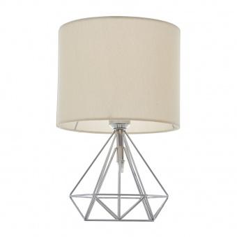 метална настолна лампа, хром, elbulgaria, 1x40w, 1487-ch