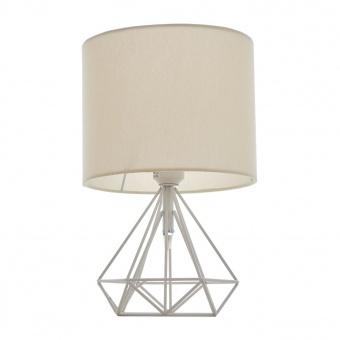 метална настолна лампа, бял, elbulgaria, 1x40w, 1487-wh