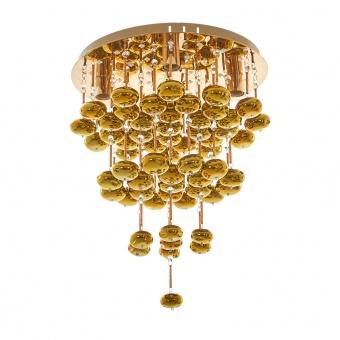 метален полилей, злато, elbulgaria, 4x40w+ led rgb, 1374/50 gd