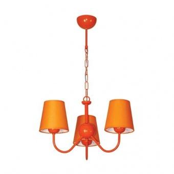 текстилен полилей, оранжев, siriuslights, рейнбоу оранжев, 3х25w, 223903