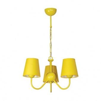 текстилен полилей, жълт, siriuslights, рейнбоу жълт, 3х25w, 224303