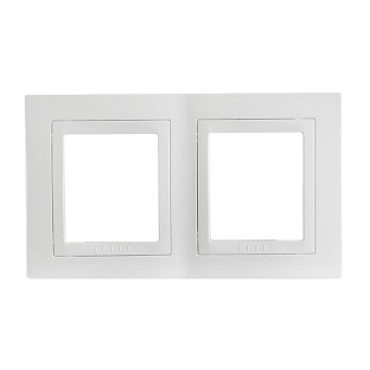 двойна рамка, бял, schneider, unica basic, mgu2.004.18